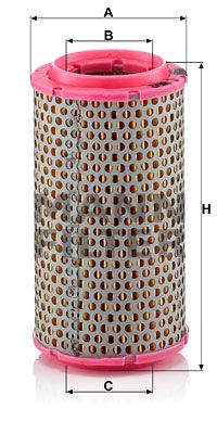 MANN-FILTER  C 816/2 Luftfilter Höhe: 142mm