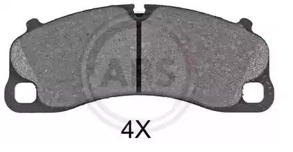 Scheibenbremse 37820 für PORSCHE Bremsbelagsatz A.B.S