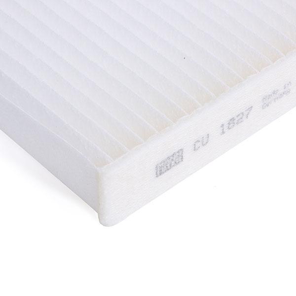 Filtro, aire habitáculo MANN-FILTER CU1827 conocimiento experto