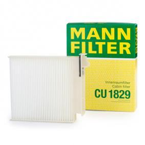Filter, interior air Length: 185mm, Width: 180mm, Height: 28mm with OEM Number 7 701 059 997