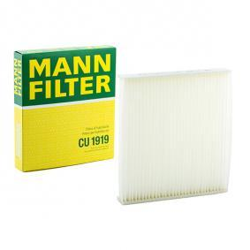 Filter, interior air Length: 193mm, Width: 213mm, Height: 30mm with OEM Number 90915-10003