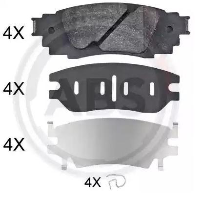 Brake Pads 35135 A.B.S. 22434 original quality