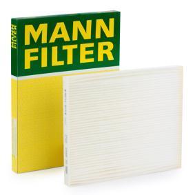 Filter, Innenraumluft Länge: 265mm, Breite: 215mm, Höhe: 21mm mit OEM-Nummer 68 08 622