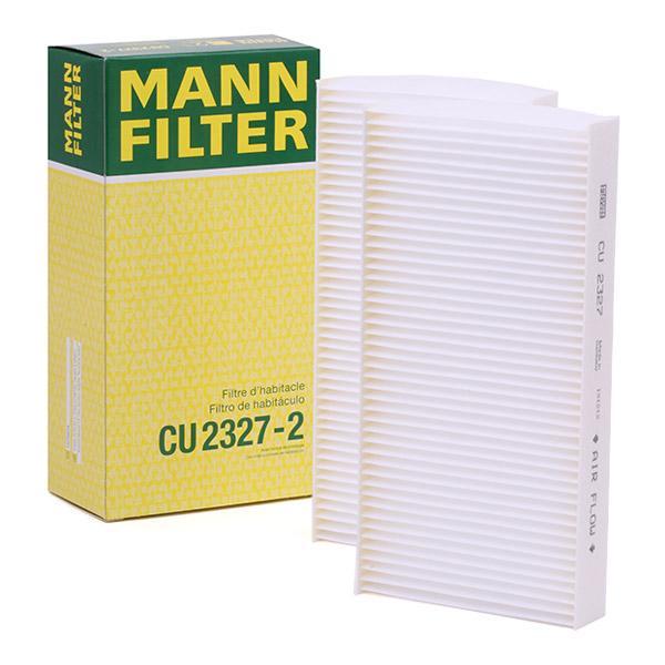Filtro, aire habitáculo MANN-FILTER CU2327-2 conocimiento experto