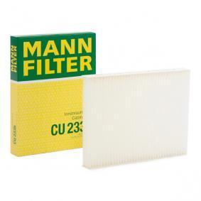 Filter, Innenraumluft Länge: 215mm, Breite: 164mm, Höhe: 25mm mit OEM-Nummer 77 362 394