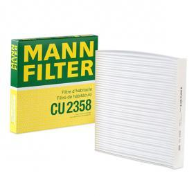 Filter, interior air Length: 224mm, Width: 234mm, Height: 30mm with OEM Number 80292-SWA-A01