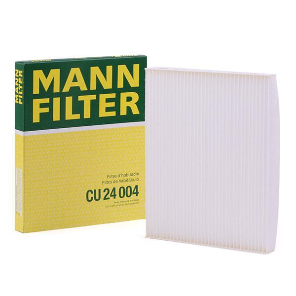 Innenraumfilter CU 24 004 MANN-FILTER CU 24 004 in Original Qualität