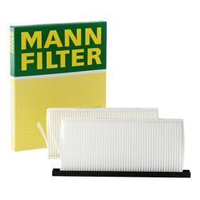 Filter, Innenraumluft Breite 1: 108mm, Breite 2: 110mm mit OEM-Nummer 95 52 5119