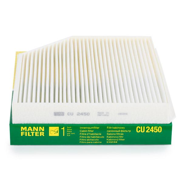 MANN-FILTER CU 2450 Filtro, aire habitáculo Long.: 279mm, Ancho: 241mm, Altura: 36mm