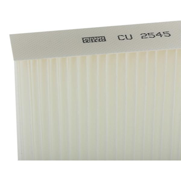 Cabin Filter MANN-FILTER CU 2545 rating