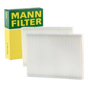 Filter, Innenraumluft Länge: 262mm, Breite: 198mm, Höhe: 32mm mit OEM-Nummer 64319069927