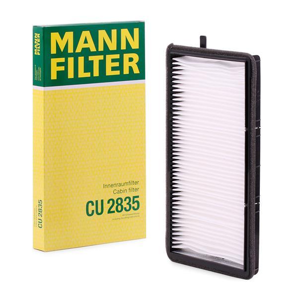 Filtro, aire habitáculo MANN-FILTER CU2835 conocimiento experto