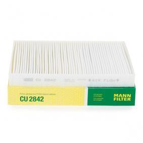 MANN-FILTER Filter, Innenraumluft CU 2842 für AUDI Q7 (4L) 3.0 TDI ab Baujahr 11.2007, 240 PS