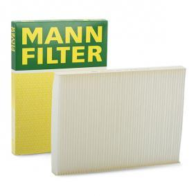 Filter, interior air Length: 280mm, Width: 206mm, Height: 25mm with OEM Number 1H0 819 644