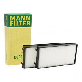 Filter, Innenraumluft Länge: 293mm, Breite: 138mm, Höhe: 34mm mit OEM-Nummer 64 31 6 945 585