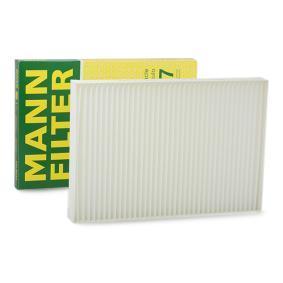 MANN-FILTER Filter, Innenraumluft CU 3037 für AUDI A6 (4B2, C5) 2.4 ab Baujahr 07.1998, 136 PS