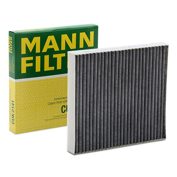 MANN-FILTER CUK 2141 Filtro, aire habitáculo Long.: 216mm, Ancho: 200mm, Altura: 30mm
