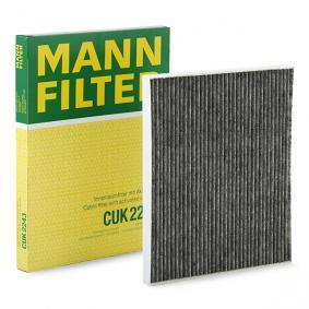 Filter, Innenraumluft Länge: 268mm, Breite: 220mm, Höhe: 21mm mit OEM-Nummer 77365764