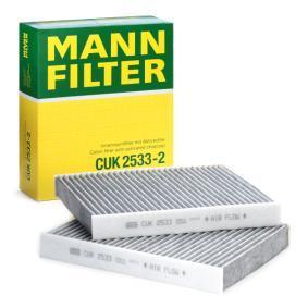 Filter, Innenraumluft Länge: 245mm, Breite: 206mm, Höhe: 32mm mit OEM-Nummer 64119163329