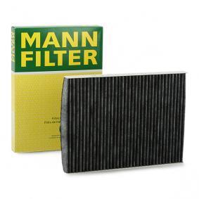 Filter, Innenraumluft Länge: 280mm, Breite: 206mm, Höhe: 30mm mit OEM-Nummer 1J0819644A