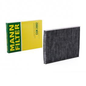 Filter, interior air Length: 281mm, Width: 206mm, Height: 25mm with OEM Number 1H0 091 800 SE