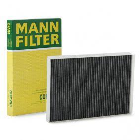 Filter, Innenraumluft Länge: 357mm, Breite: 238mm, Höhe: 35mm mit OEM-Nummer A 906 830 03 18