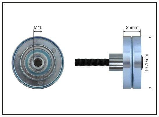 CAFFARO  359-55 Umlenkrolle Keilrippenriemen Ø: 70mm