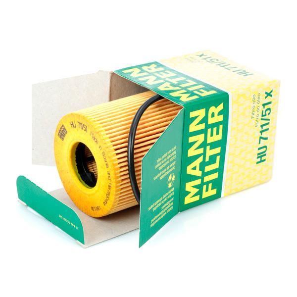 Filtro de aceite de motor MANN-FILTER HU 711/51 x 4011558298302