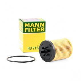 Sistema de pré-aquecimento do motor (eléctrico) OPEL CORSA C Caixa (F08, W5L) 1.2 80 CV de Ano 07.2005: Filtro de óleo (HU 712/8 x) para de MANN-FILTER