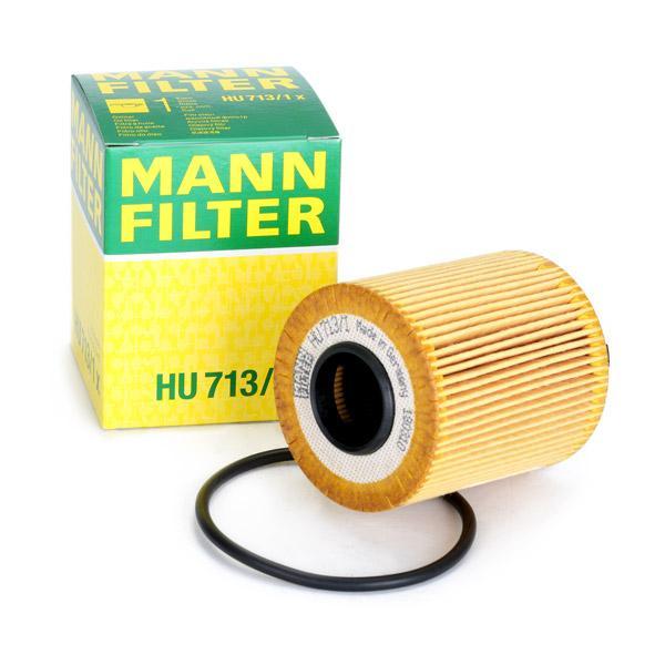Filtro de aceite de motor MANN-FILTER HU713/1x conocimiento experto