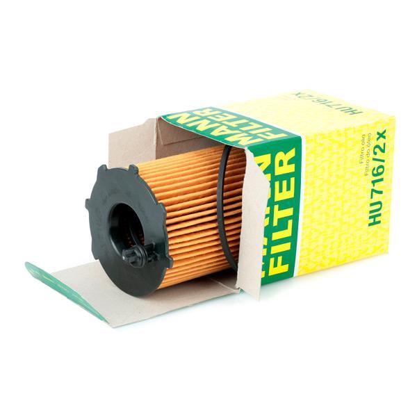 Engine oil filter MANN-FILTER HU 716/2 x rating
