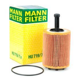 MANN-FILTER Ölfilter HU 719/7 x für AUDI A3 (8P1) 1.9 TDI ab Baujahr 05.2003, 105 PS