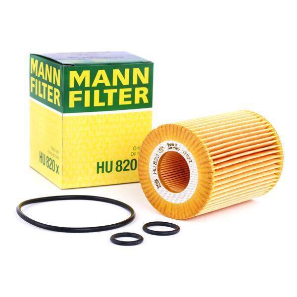 Filtro de Aceite MANN-FILTER HU820x conocimiento experto