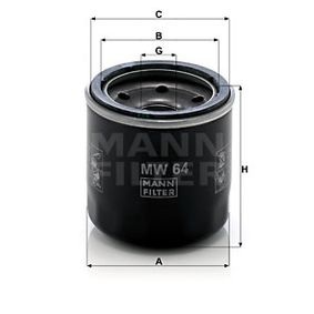 Article № MW 64 MANN-FILTER prices