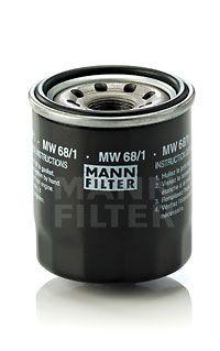MANN-FILTER  MW 68/1 Ölfilter Ø: 66mm, Außendurchmesser 2: 63mm, Innendurchmesser 2: 55mm, Innendurchmesser 2: 55mm, Höhe: 77mm