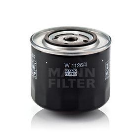 MANN-FILTER  W 1126 Filtre à huile Ø: 108mm, Diamètre extérieur 2: 71mm, Diamètre intérieur 2: 62mm, Hauteur: 95mm