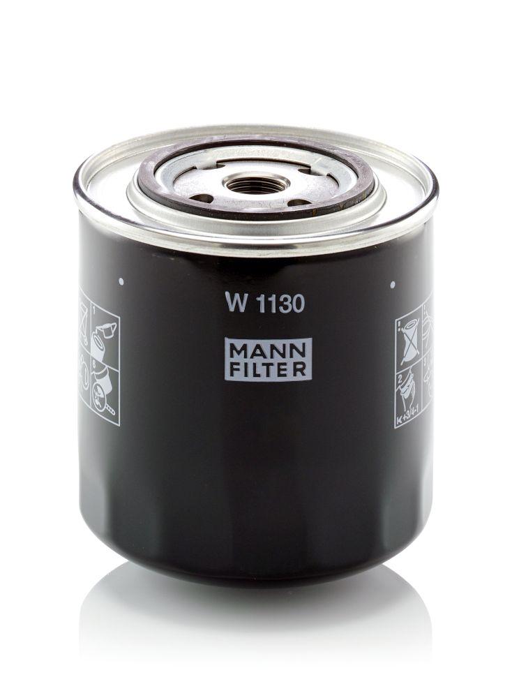 MANN-FILTER  W 1130 Ölfilter Ø: 108mm, Außendurchmesser 2: 71mm, Innendurchmesser 2: 62mm, Innendurchmesser 2: 62mm, Höhe: 115mm