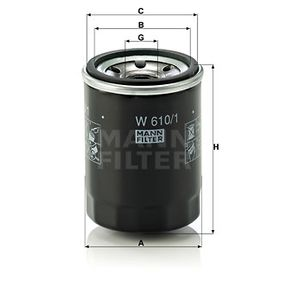 MANN-FILTER W610/1 EAN:4011558738204 Shop
