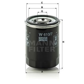 MANN-FILTER W610/7 EAN:4011558760700 Shop