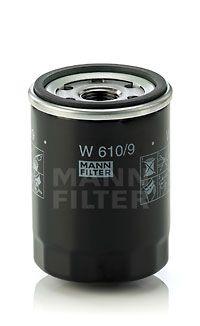 MANN-FILTER  W 610/9 Ölfilter Ø: 66mm, Außendurchmesser 2: 62mm, Innendurchmesser 2: 54mm, Innendurchmesser 2: 54mm, Höhe: 90mm