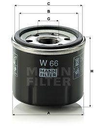 W 66 MANN-FILTER from manufacturer up to - 26% off!