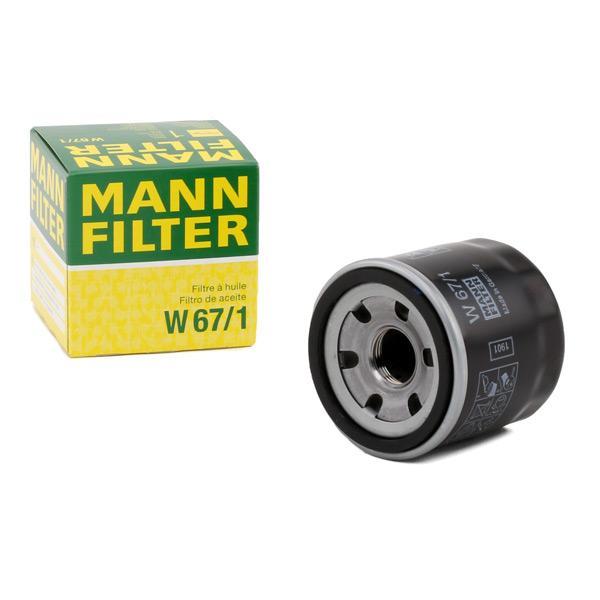 Oil Filter MANN-FILTER W67/1 expert knowledge