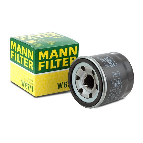 Oil Filter MANN-FILTER W 67/1 4011558738006