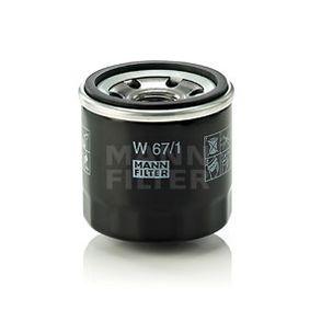 MANN-FILTER W 67/1 - 4011558738006