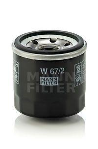 Filtro de Aceite MANN-FILTER W 67/2 4011558738105