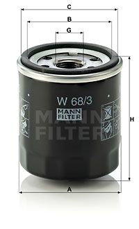 MANN-FILTER W68/3 EAN:4011558737900 Shop
