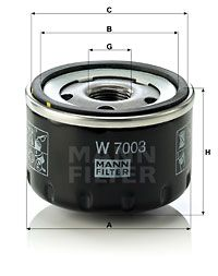 W 7003 MANN-FILTER from manufacturer up to - 26% off!