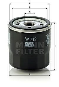 Olajszűrő MANN-FILTER W 712 4011558700508