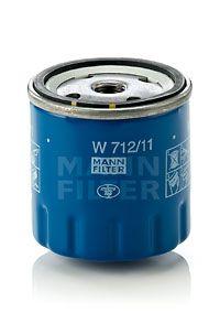 MANN-FILTER  W 712/11 Ölfilter Ø: 76mm, Außendurchmesser 2: 71mm, Innendurchmesser 2: 62mm, Innendurchmesser 2: 62mm, Höhe: 79mm