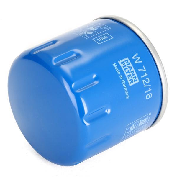 Filtro de aceite de motor MANN-FILTER W712/16 conocimiento experto